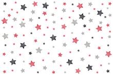 Drawn Stars Pattern On Isolate...