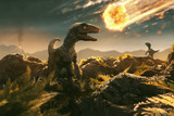 Velociraptor sees incoming asteroid