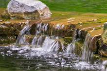 Close-up Of Small Waterfall Ru...