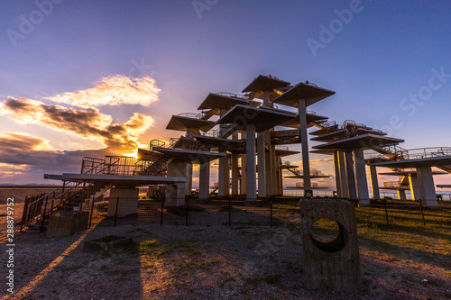 Fototapety, obrazy: 富津岬の夕景