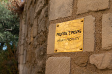 Golden Private Property Sign I...