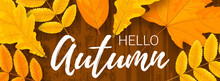 Horizontal Poster Template With Autumn Leaves
