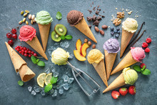 Various Varieties Of Ice Cream...
