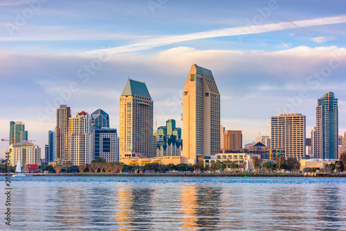 San Diego, California, USA Cityscape Canvas Print