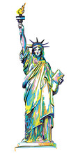 Statue Of Liberty. Stylish Mul...
