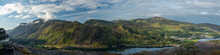 Panoramic Landscape Of Snowdon...