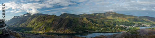 Canvas Print Panoramic landscape of Snowdonia National Park, Wales, UK