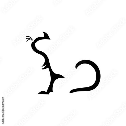 cat icon logo vector Wallpaper Mural