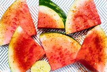 Watermelon With Tajin Seasonin...