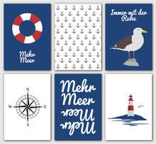 Maritime Postkarten Serie