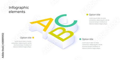 Obraz na plátně  Business process chart infographics with 3 step options