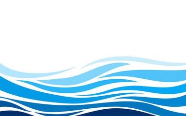 Blue lines layer wave concept design vector abstract background