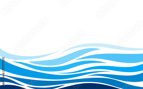Photo Stands Abstract wave Blue lines layer wave concept design vector abstract background