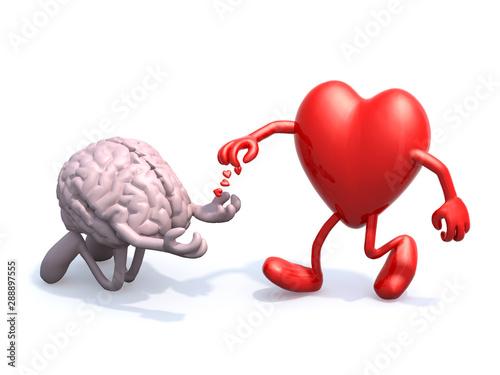 heart and brain love alms Wallpaper Mural