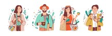 Green Lifestyle Flat Vector Il...