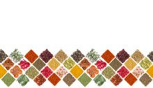 Seamless Horizontal Pattern With Different Spices