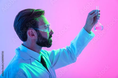 canvas print motiv - Drobot Dean : Portrait of a confident man scientist wearing unifrom