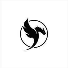 Dragon Logo Vector In Simple R...