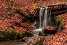 Small Creek Waterfall In A Bea...