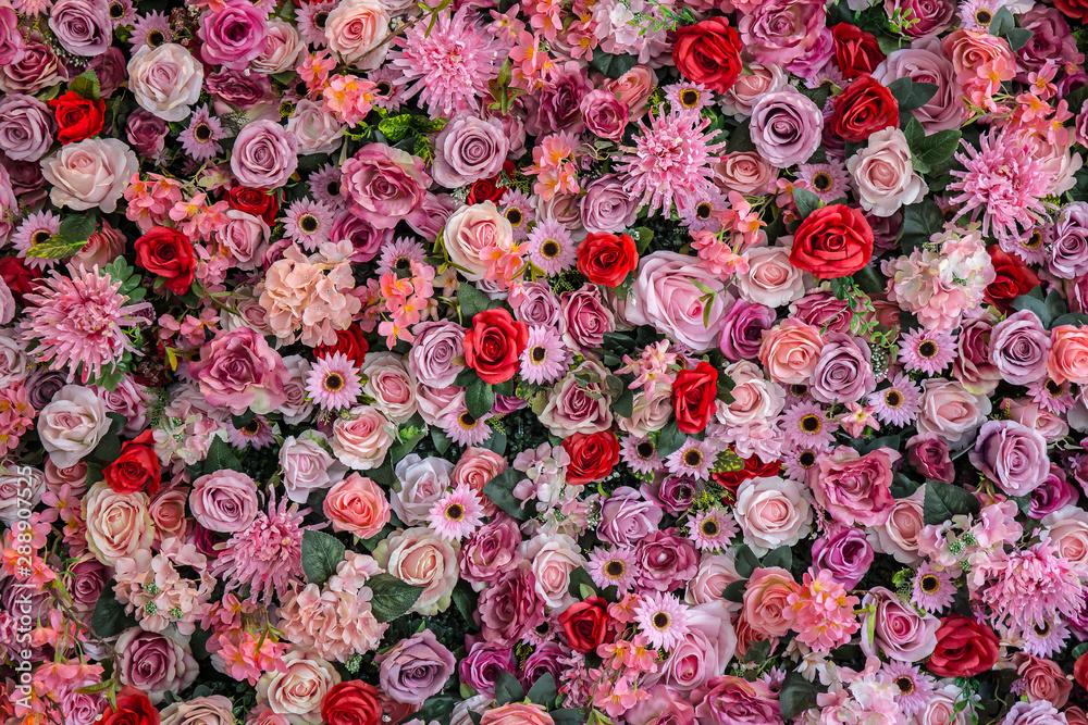 Fototapety, obrazy: Vintage style rose bouquet background.
