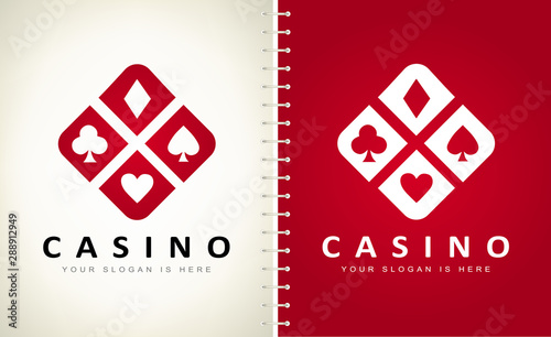Playing Card Suit vector logo. Logo design vector illustration. Canvas Print