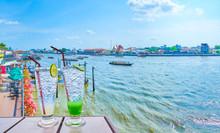 The Refreshing Cocktails At Chao Phraya River In Bangkok, Thailand