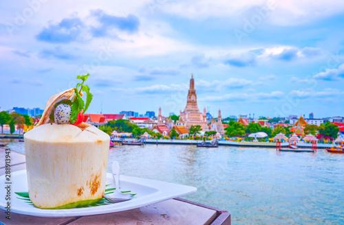 Fotomural  The Thai dessert in coconut, Bangkok, Thailand