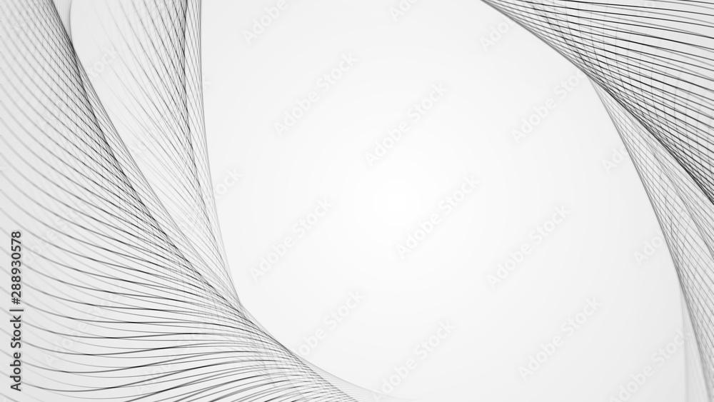 Fototapety, obrazy: The black and white background with lines.