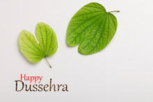 Dussehra Greeting Card Using Apta / Bauhinia Racemosa