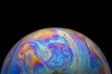 Abstract Soap Bubble Macro Pho...