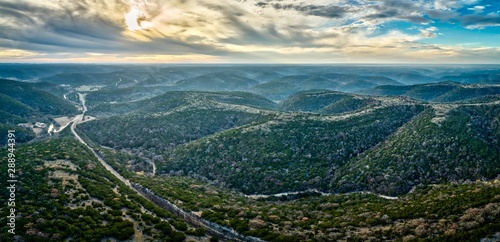 Poster Texas Texas Hill Country Aerial View