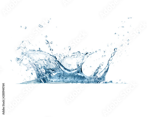 Obraz Water splash isolated on white background - fototapety do salonu