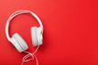 canvas print picture - Music headphones