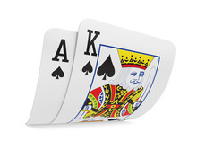 Pair Of Ace And King Playing C...