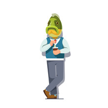 Business Man With Fish Head St...