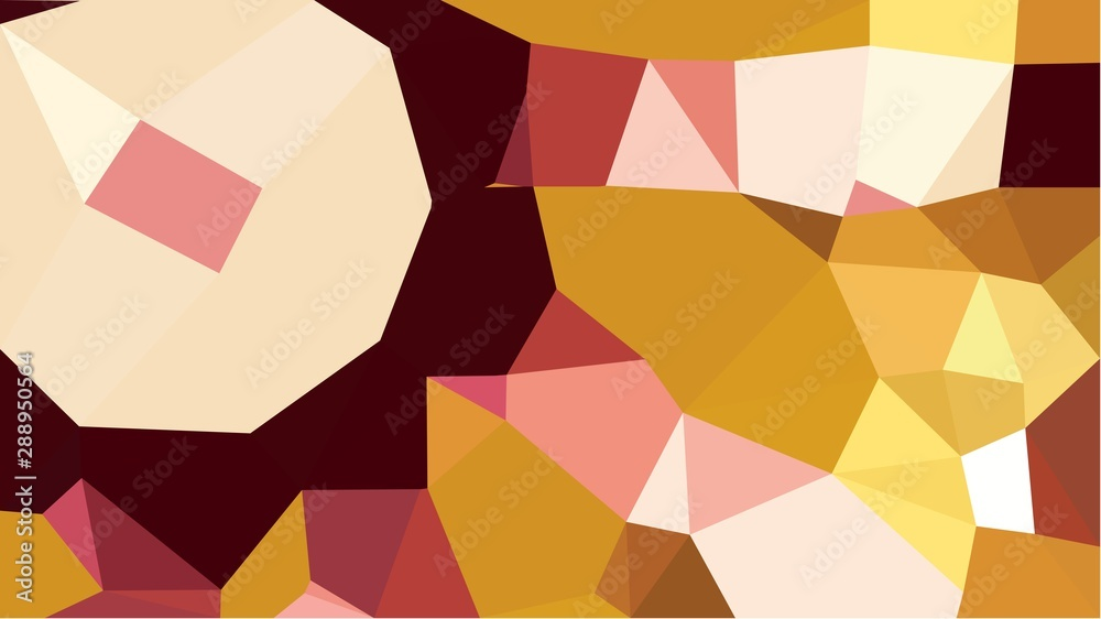 abstract geometric background with peach puff, bronze and dark red color triangles. can be used for wallpaper, poster, cards or graphic elements