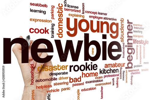 Stampa su Tela  Newbie word cloud