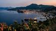 canvas print picture - Lipari - Hafen Marina Lunga im Sonnenuntergang