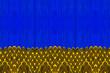 Leinwanddruck Bild - Yellow and blue pattern of an African fabric