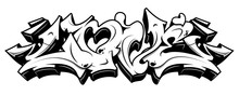 Love In Graffiti Style. Black ...