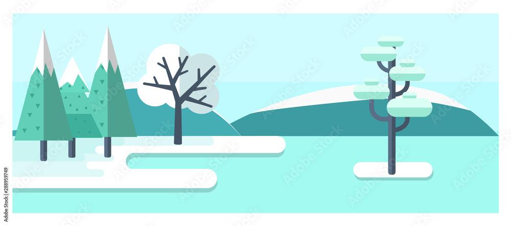 Fototapeta Winter landscape