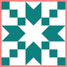 Barn Quilt Pattern, Patchwork Design, Abstract Geometric Tiled Trail Vector Illustration