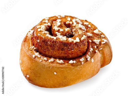 Fototapeta Cinnamon bun, close up obraz
