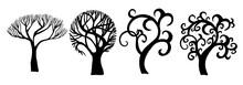 Set Of Beautiful Stylized Tree...