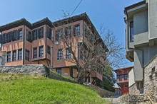 Nineteenth Century Houses In Old Town Of City Of Plovdiv, Bulgaria