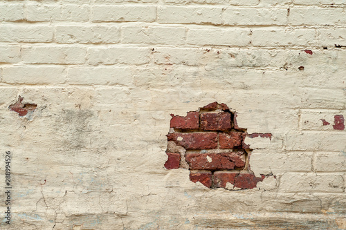 Exposed brick on old wall