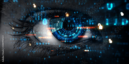 Fototapeta Abstract high tech eye concept obraz