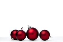 Red Christmas Balls Isolated O...