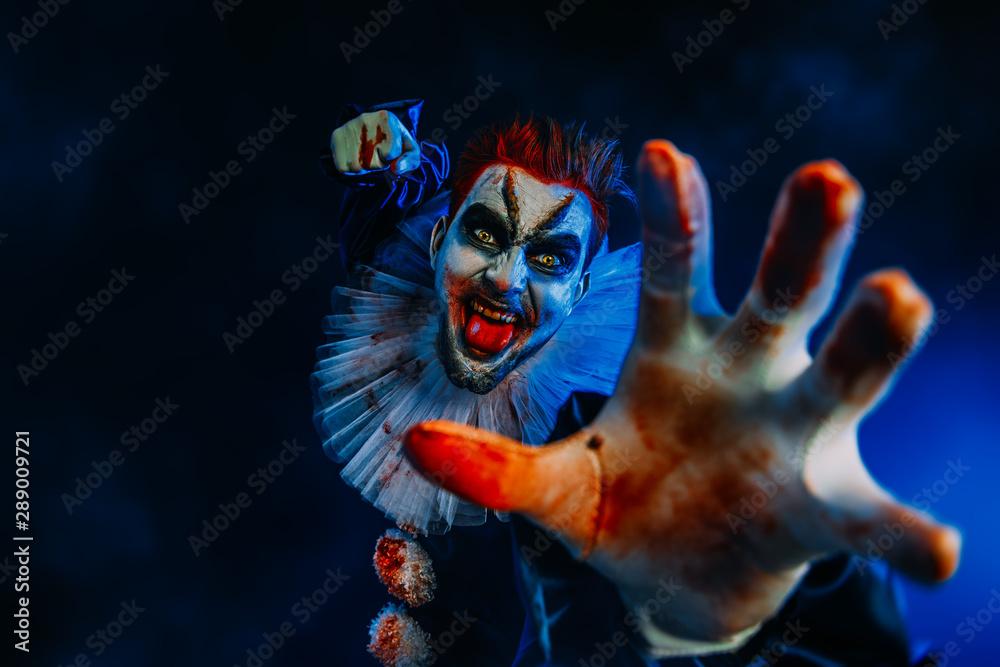 Fototapeta cruel clown man