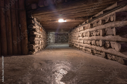 Photo  Salt mines in the city of Wieliczka